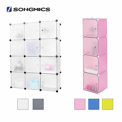 Plastic Closet Wardrobe Clothes Cabinet Interlocking Cube Box Storage Organiser