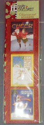 Mary Engelbreit-Christmas Dimensional Stickers-Classic Winter Scenery~CHEER~