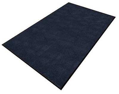 APACHE MILLS 0105615013x5 Carpeted Entrance Mat, Blue, 3 x 5 ft.