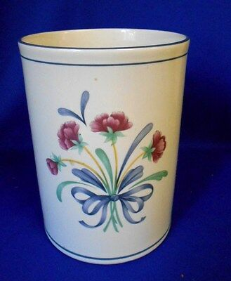 "Lenox USA POPPIES ON BLUE (for the blue) Large Canister No lid 7"" x 5"" White"