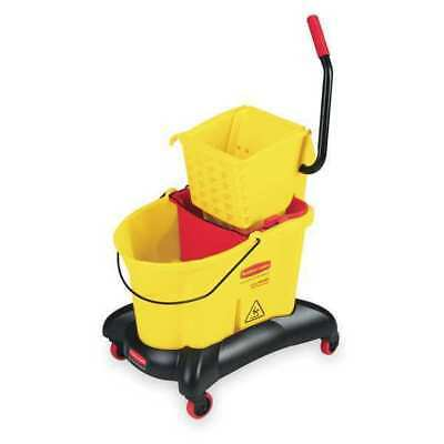RUBBERMAID FG768000YEL Mop Bucket and Wringer, 35 qt., Side Press