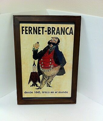 Fernet Branca Framed Advertising Poster Italy - NEW!!