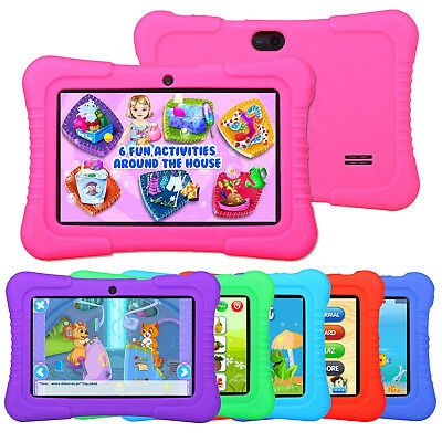 """2018 New version 7"""" Google Android Tablet 16GB Bundle Case for Kids Gift Game US"""