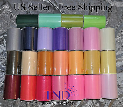 "TULLE ROLL SPOOL 6""x100 YDS (300 FT) TUTU WEDDING BOW GIFT CRAFT DECORATION"