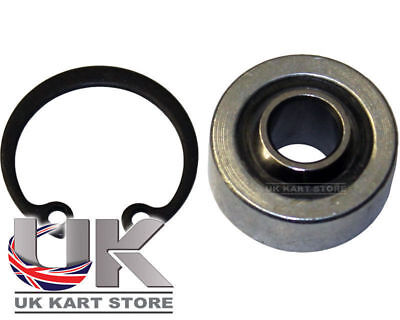 Steering Column Shaft Uniball Bearing M8 x 22mm x 9mm & Clirclip UK KART STORE