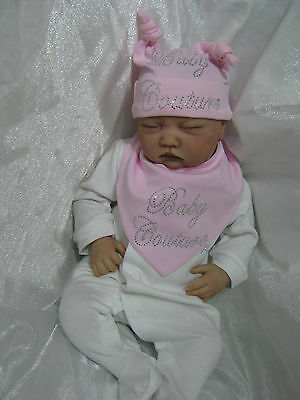 Reborn Baby Doll Boy Or Girls Clothing Newborn  Hat Bib All In One Baby Couture