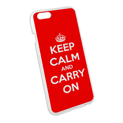 Keep Calm and Carry On Red Snap On Hard Protective Case for Apple iPhone 6