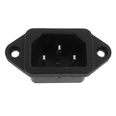 Hot Sale!IEC 320 C14 Male Plug 3 Pins PCB Panel Power Inlet Socket Connector SG