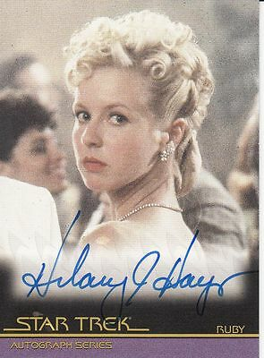Star Trek Movies Heroes & Villains A115 Hilary Hayes autograph