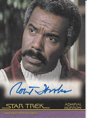 Star Trek Movies Heroes & Villains A117 Robert Hooks autograph