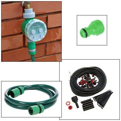 Automatic Electronic Garden Water Timer + Plant Irrigation Watering System Kit