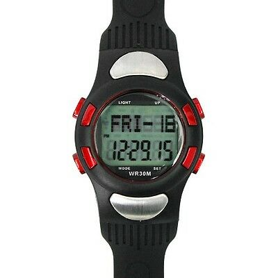 Fitness 3D Sport Watch Pulse Heart Rate Monitor With Pedometer Calories Counter