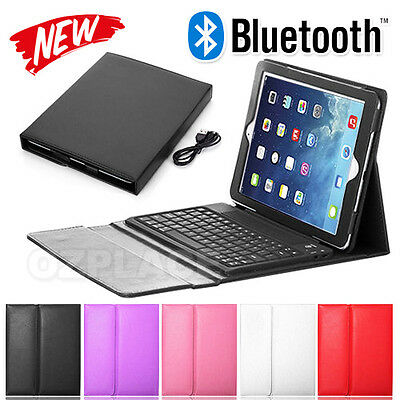 New Elegant For Apple iPad Air 2 Bluetooth Keyboard Case Wireless Leather Cover
