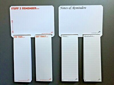 2x A5 Notepad Magnetic Fridge Whiteboard Home Office Memo Shopping List 2FreePen