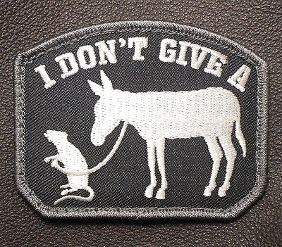 I Don't Give A Rats Ass Army Military Black Op Swat Velcro® Brand Fastener Patch