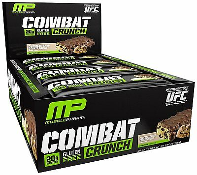 Combat Crunch Protein Bars Chocolate Chip Cookie Dough by MusclePharm (12 Bars)