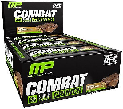 Combat Crunch Protein Bars Chocolate Peanut Butter Cup by MusclePharm (12 Bars)
