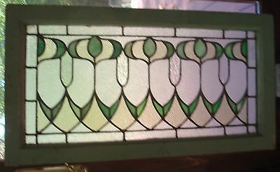 1 of a  matched pair of antique  stained glass windows