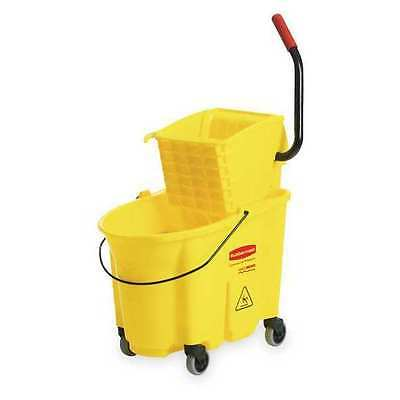 WaveBrake Mop Bucket and Wringer,35 qt.,Yellow
