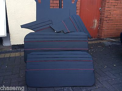 Mgb gt  black with red piping 6 piece panel set 1965 to 1968 models