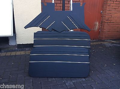Mgb gt  black with white piping  piece panel set 1965 to 1968 models