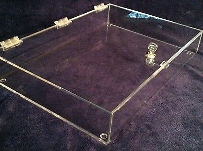 Locking Security  Display Case  Acrylic Counter Top 23.5 wide x 18 deep x 3 high