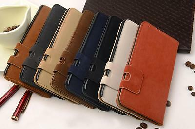 New GENUINE  8 COLOUR LEATHER WALLET FLIP Cover CASE FOR iPhone 6 6 PLUS