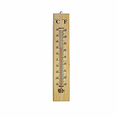 New Traditional Wooden Thermometer Beech Wood Room Home Garden Garage Greenhouse