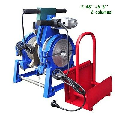 "2.48""-6.30"" 63-160mm Pipe Welder PE PPR PB PVDF HDPE Butt Fusion Welding Machine"