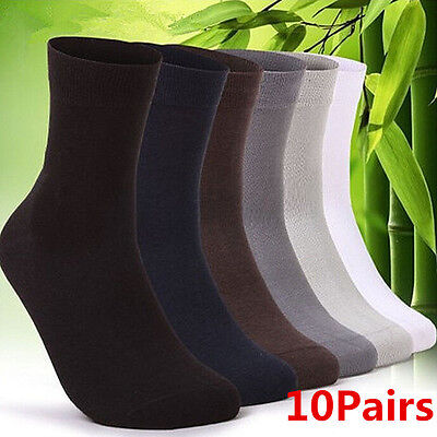 10 Pair Man Short Bamboo Fiber Socks Stockings Middle Socks 4 Colors