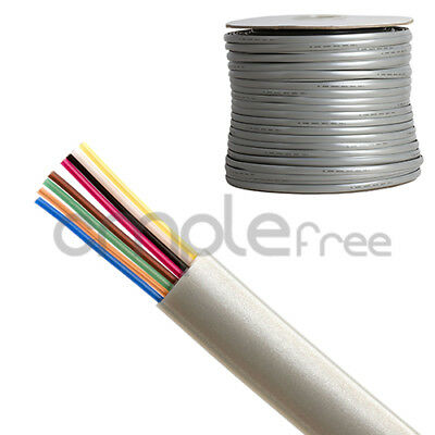 1000FT Phone Cable Solid Copper Telephone Line Flat 8 Wire Conductor 28AWG NEW