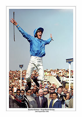 Frankie Dettori Magnificent Seven A4 Photo Print A4 Free P+P Horse Racing Ascot