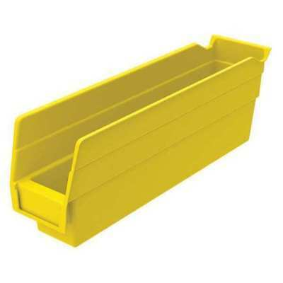 "Yellow Shelf Bin, 11-5/8""L x 2-3/4""W x 4""H AKRO-MILS 30110YELLO"