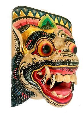 Balinese Demon Mask Hanuman Monkey Topeng Bali Wall Art hand carved painted wood