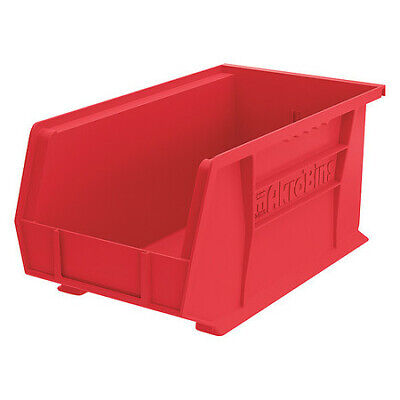 "Red Hang and Stack Bin, 14-3/4""L x 8-1/4""W x 7""H AKRO-MILS 30240RED"
