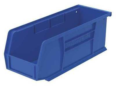 "Blue Hang and Stack Bin, 10-7/8""L x 4-1/8""W x 4""H AKRO-MILS 30224BLUE"
