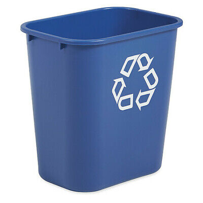 RUBBERMAID FG295673BLUE Recycling Container, 7 gal, Blue