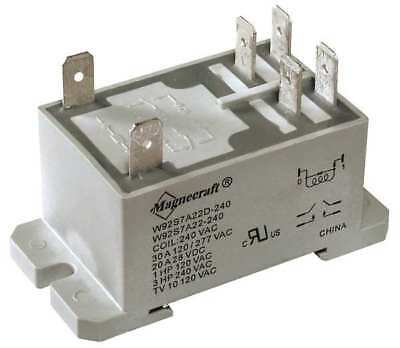 MAGNECRAFT 92S7A22D-24A Enclosed Power Relay, 30A, 24VAC, DPST