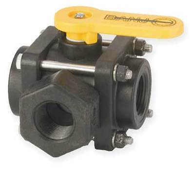 "Banjo Polypropylene Ball Valve Inline Single Union 3/4"", V075SL"
