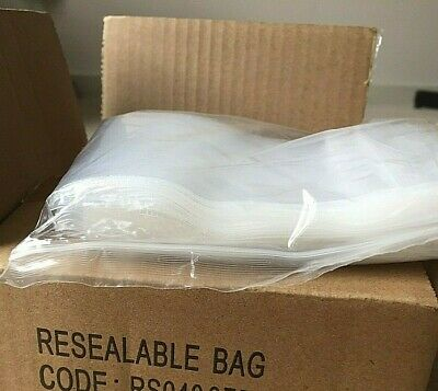 zip snap clip lock 100 plastic resealable bags-100 x 150 mm - 40m THICK- IN AUST