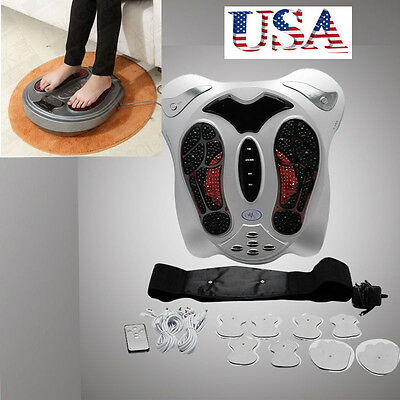 Electromagnetic Wave Pulse Circulation Foot feet Massager Reflexology Booster US
