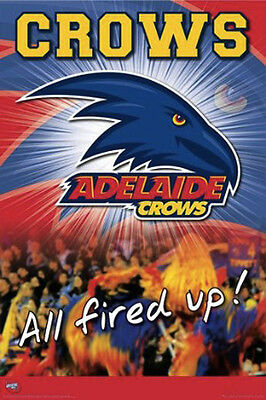 (LAMINATED) AFL ADELAIDE CROWS POSTER (61x91cm)  PICTURE PRINT NEW ART