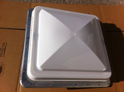 NEW RV ENCLOSED TRAVEL CONCESSION TRAILER CAMPER MOTORHOME 14X14 ROOF VENT WHITE