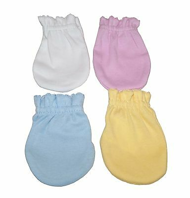 MIX 4 Pairs Cotton Newborn Baby/infant Anti-scratch Mittens Gloves