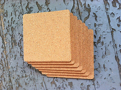 50 Blank Square Cork Coasters/Trivets   Made in USA