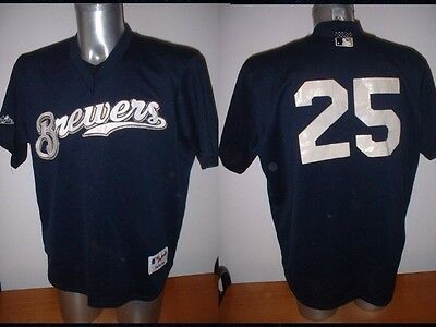 Milwaukee Brewers Majestic Jersey Shirt Adult XL Baseball Official Vintage MLB