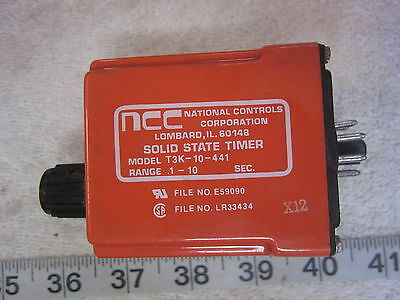 NCC National Controls T3K-10-441 8-Pin 120V Time Delay Relay, Used