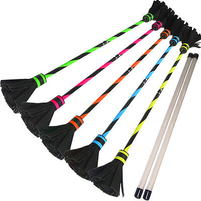 Classic Fluoro Flower Stick Set & Silicone Hand sticks (Juggling Circus) UK Made