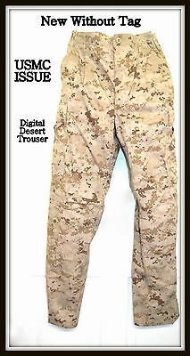 NWOT USMC Issue Digital Desert Marpat Camouflage Trousers Size Small Short