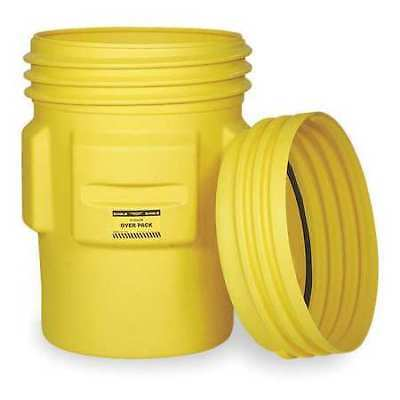 EAGLE 1661 Overpack Drum, Open Head, 65 gal., Yellow